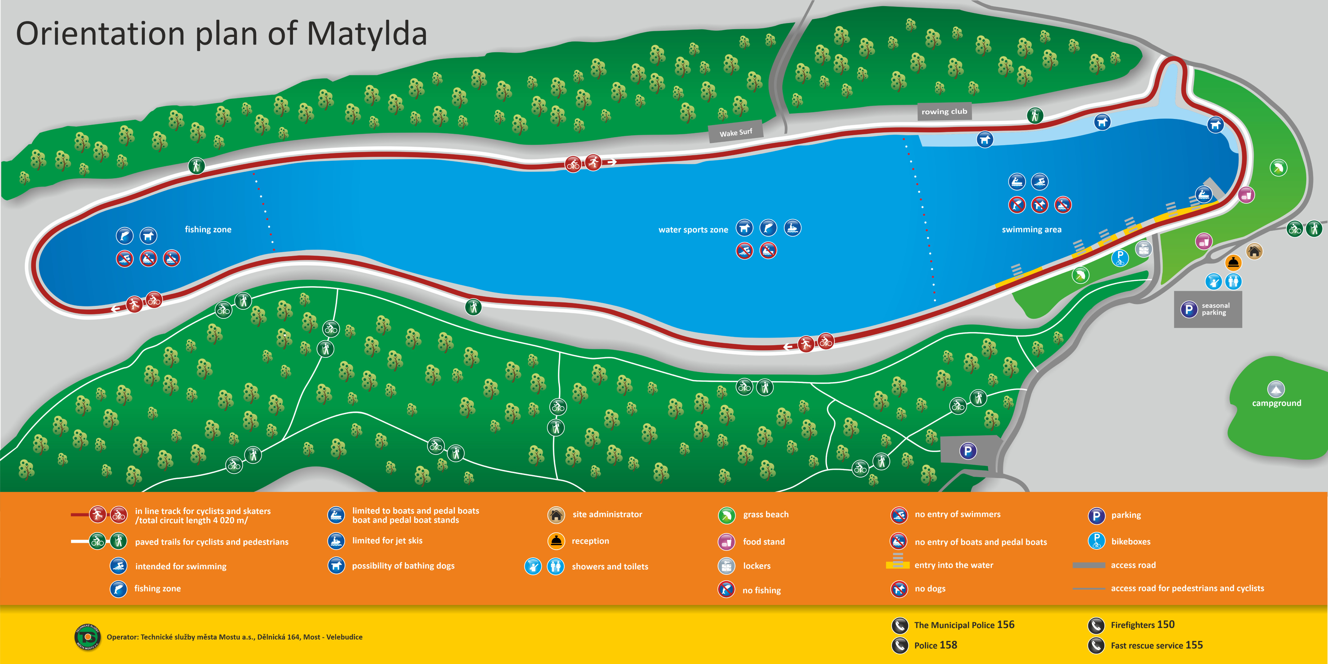 Map of the Matylda area